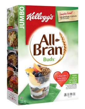 Kellogg's All-Bran Buds Cereal, 1050g/2.53 Pounds {Imported from Canada}
