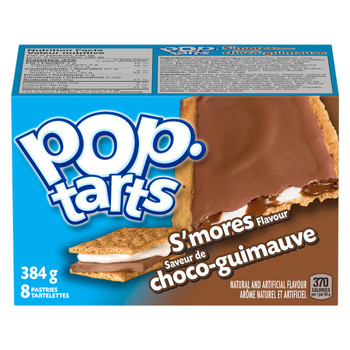 Kellogg's Pop Tarts Toaster Pastries, S'mores 8ct 400g/14.11oz  {Canadian}