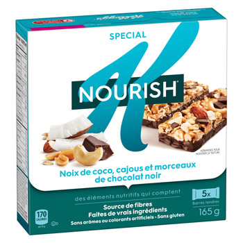 Kellogg's Special K Nourish Bar with Quinoa, Coconut Cashew and Dark Chocolate Chunks, 165g (Imported from Canada)