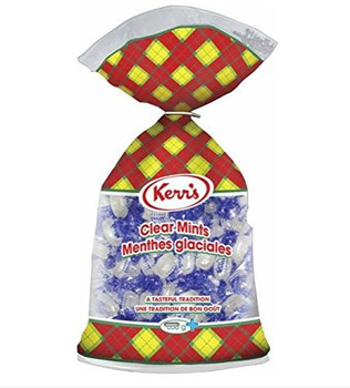 Kerr's Clear Mints 500g/17.6 oz.,  bag  {Imported from Canada}