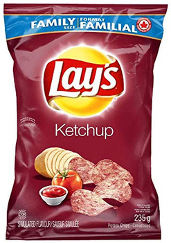 Lay's Potato Chips - Ketchup 255g/9 oz., Bag {Imported from Canada}