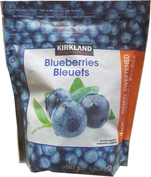 Kirkland Signature Dried Blueberries, 567g/20 oz., {Imported from Canada}