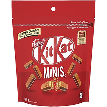 Kit Kat Minis 180g/6.3 oz.,  Pouch {Imported from Canada}