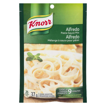 Knorr Alfredo Pasta Sauce Mix, 37g/1.3 oz., (24pk) {Imported from Canada}