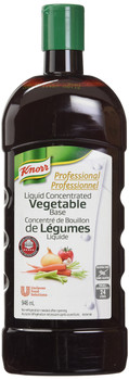 Knorr Liquid Concentrated Base Vegetable for Restaurants, 946ml (pack of 4) - Imported from Canada