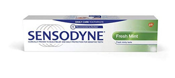 Sensodyne Sensitivity Toothpaste for Sensitive Teeth, Fresh Mint, 100 ml / 3.4 Fl.Oz Ea. - 3 Packs