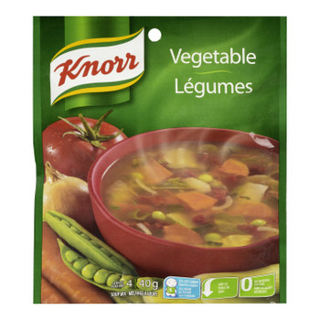 Knorr Vegetable Soup Mix 40 Grams/pack, Pack of 12 {Imported from Canada}