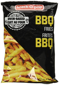 Krack-O-Pop Baked BBQ Fries, 130g/4.6oz. (Imported from Canada)