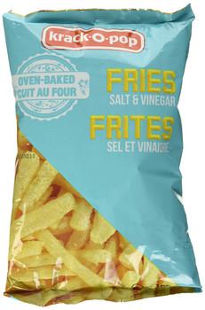 Krack-O-Pop Oven Baked Salt & Vinegar Fries, 130g/4.6oz, (Imported from Canada)