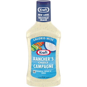 KRAFT Calorie Wise Rancher's Choice Dressing, 475ml/16 oz.{Imported from Canada}