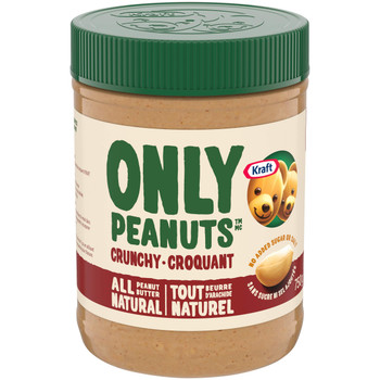 Kraft All Natural Crunchy Peanut Butter, 750g/26.5oz., {Imported from Canada}