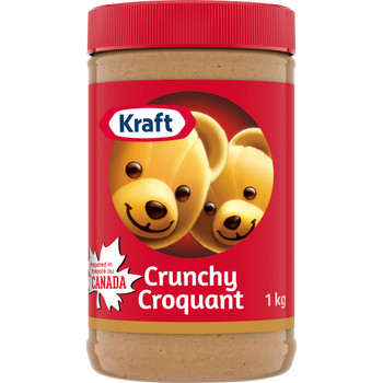 KRAFT Crunchy Peanut Butter  1kg/ 2.2 lbs.{Imported from Canada}