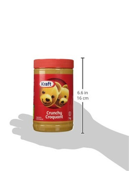 Kraft Peanut Butter (Crunchy Peanut Butter, 1 KG) {Imported from Canada}