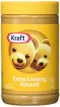 Kraft Peanut Butter (Extra Creamy Peanut Butter, 1 KG) {Imported from Canada}