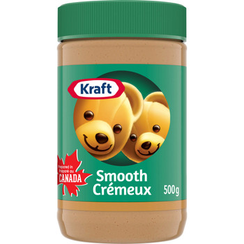 KRAFT Peanut Butter - Smooth 500g/17.6oz. (Imported from Canada)