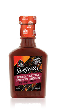 La Grille, Grilling Made Easy, BBQ Sauce, Montreal Steak Spice, 435ml/14.7oz. (Imported from Canada)