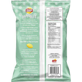 Lay's Poppables Sea Salt Potato Snack, 141g/5 oz., {Imported from Canada}