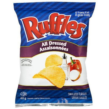 Lay's Ruffles Potato Chips, All Dressed, 40g/1.4oz {Imported from Canada}
