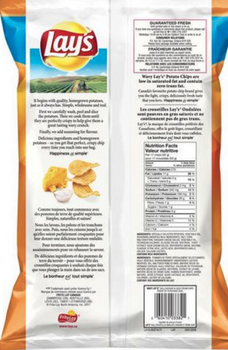 Lays-Wavy-Chips, Cheddar & Sour Cream 240g/8.46oz {Imported from Canada}