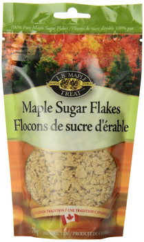 L B Maple Treat Maple Sugar Flakes  70gm/2.46oz {Imported from Canada}