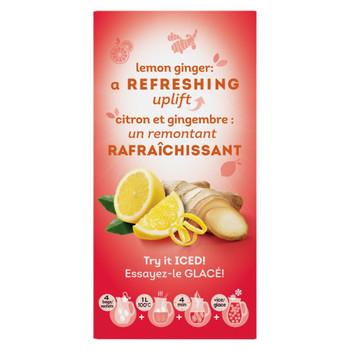 Lipton Lemon Ginger Herbal 20 Tea Bags per box, (Imported from Canada)