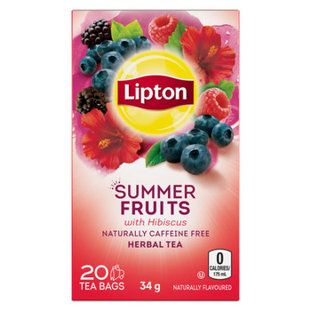 Lipton Summer Fruits Herbal Tea Bags 20 ct {Imported from Canada}