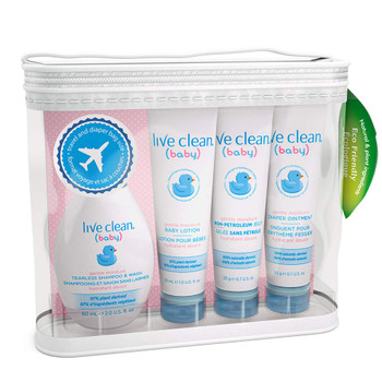 Live Clean Baby Diaper Bag Essential Gift Set {Imported from Canada}