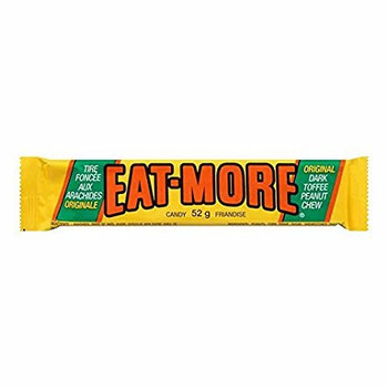 Eat-more Candy Bars Dark Toffee Peanut Chocolate(10ct) 52g Each {Imported from Canada}