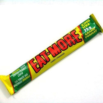 Eat-more Bars Dark Canada Toffee Peanut Chocolate 4ct/ 75g{Imported from Canada}