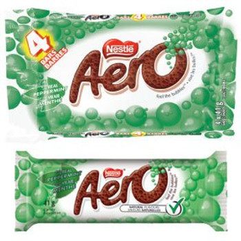 Aero Peppermint Chocolate Bars (10ct) 41g Each {Imported from Canada}