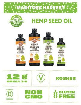 Manitoba Harvest Certified Organic Hemp Oil (250mL/8.5 oz.,) {Canadian}