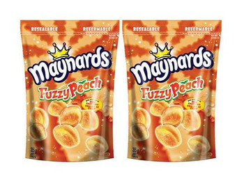 Maynards Fuzzy Peach Candy, 355g/12.5 oz., (2 Pack) - {Imported from Canada}