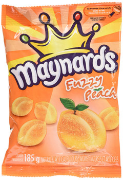 Maynards Gummy Candy, Fuzzy Peach, 185g/6.5oz {Imported from Canada}