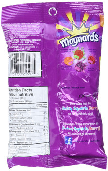 Maynards Juicy Squirts Berry Gummy Candy 170g (6oz) Imported from Canada