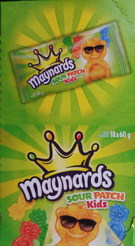 Maynards Sour Patch Kids 18x60g - {Imported from Canada}