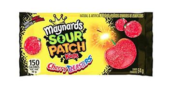 Maynards  Sour Patch Kids Gummy Sour Cherry Blasters, 64g/2.3oz - 18 Pack