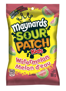 Maynards Sour Patch Kids Watermelon Gummies, 180g {Imported from Canada}