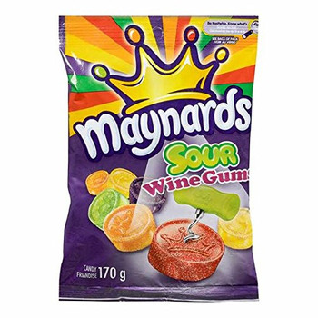 Maynards Sour Wine Gums - Single Bag 170g/ 6 oz. {Imported from Canada}