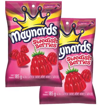 Maynards Swedish Berries 13oz/370g (Pack of two of 6.5oz/185g bag)