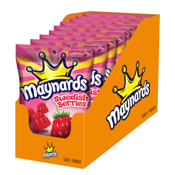 Maynards Swedish Berries, 185g, 9 Count - Imported from Canada