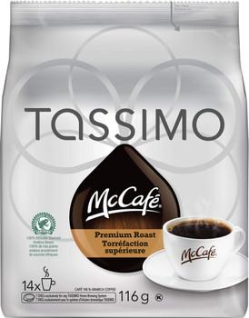 McCafé Premium Roast Medium Dark Tassimo T-Discs, 14 Ct {Imported from Canada}