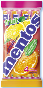 Mentos 4ct Fruit (37g / 1.3oz per pack) {Imported from Canada}