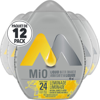 MIO Liquid Water Enhancer - Lemonade, 12ct, 48ml Each (Imported from Canada)