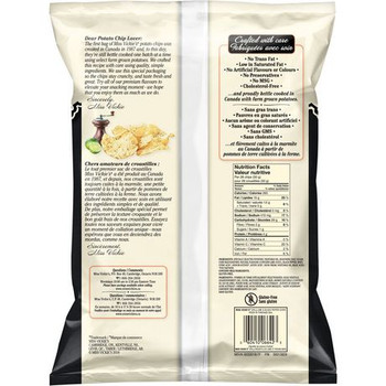 Miss Vickie's Kettle Cooked Lime & Black Pepper Potato Chips 220g {Canadian}