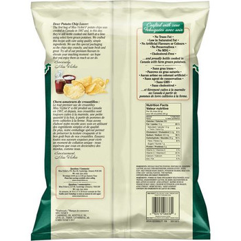 Miss Vickie's Sea Salt & Malt Vinegar 220g/7.8 oz., {Imported From Canada}