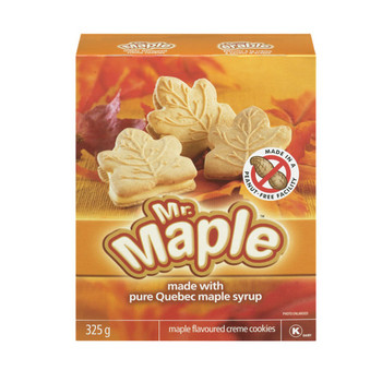 Mr. Maple Maple Flavoured Creme Cookies 325g/11.5 oz., - {Imported from Canada}