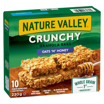 Nature Valley Crunchy Oats and Honey, 10-Count, 230g/8.1 oz., {Imported from Canada}