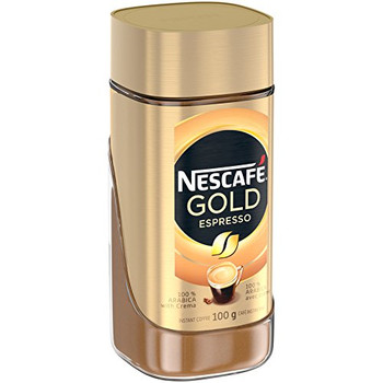 Nescafe Gold Espresso Instant Coffee, 100 g Jar - {Imported from Canada}