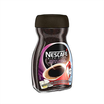 NESCAFE Rich French Vanilla, Instant Coffee, 100g Jar {Imported from Canada}
