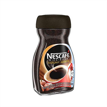 NESCAFE Rich Hazelnut, Instant Coffee, 100g Jar, {Imported from Canada}